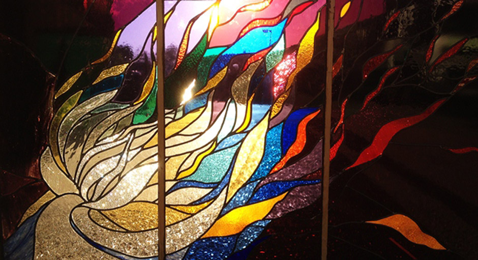 Evening-Meteor-stained-glass-tryptich-1x2metres2