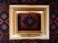 Frame with 23.5 carat gold water gilding